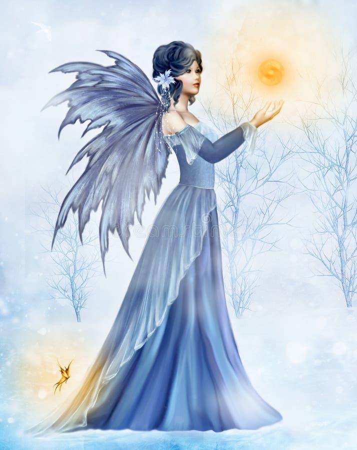 De Koningin van het ijs royalty-vrije illustratie