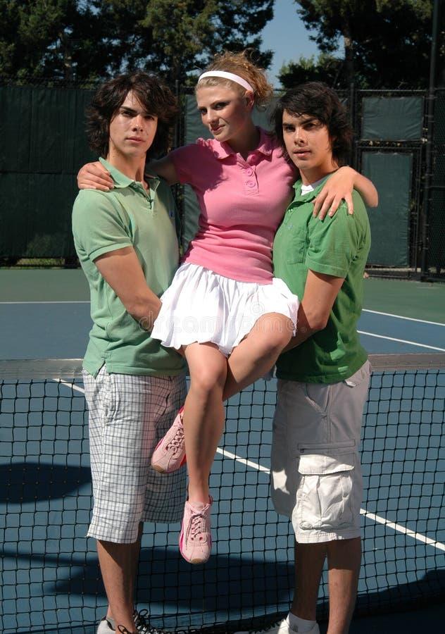 De Koningin van het tennis royalty-vrije stock afbeelding