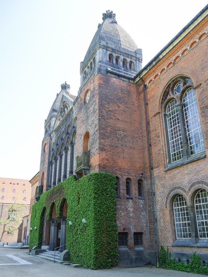 De koninklijke bibliotheekbouw van Kopenhagen - Denemarken royalty-vrije stock fotografie