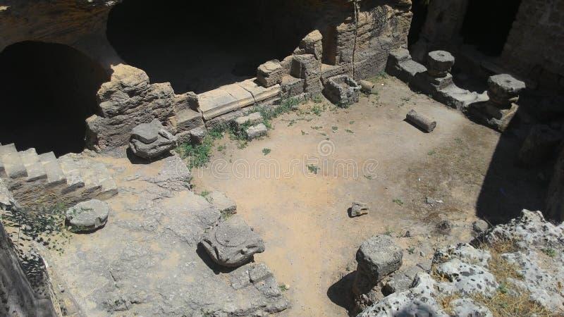 De koninklijke Caraïben op het Eiland Cyprus, dichtbij de stad van Paphos stock afbeeldingen