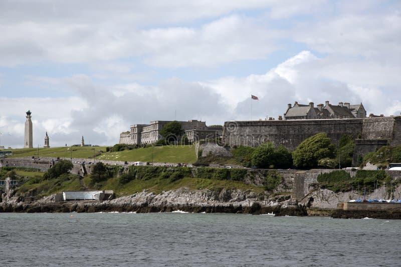 De Koninklijke Citadel militaire onderneming Plymouth Devon het UK royalty-vrije stock afbeelding