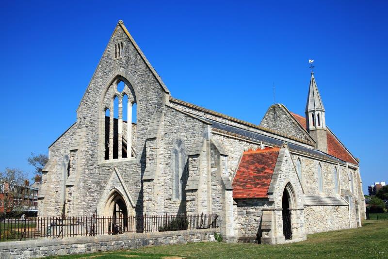 De koninklijke Kerk van het Garnizoen, Portsmouth stock afbeelding