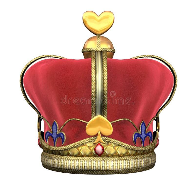 De Koninklijke Kroon van de koning royalty-vrije illustratie