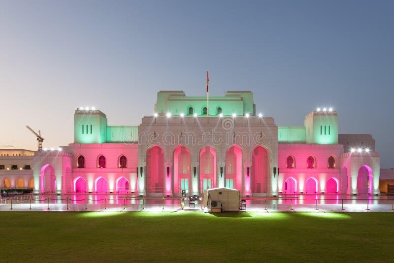 De Koninklijke Muscateldruif van het Operahuis, Oman royalty-vrije stock afbeeldingen