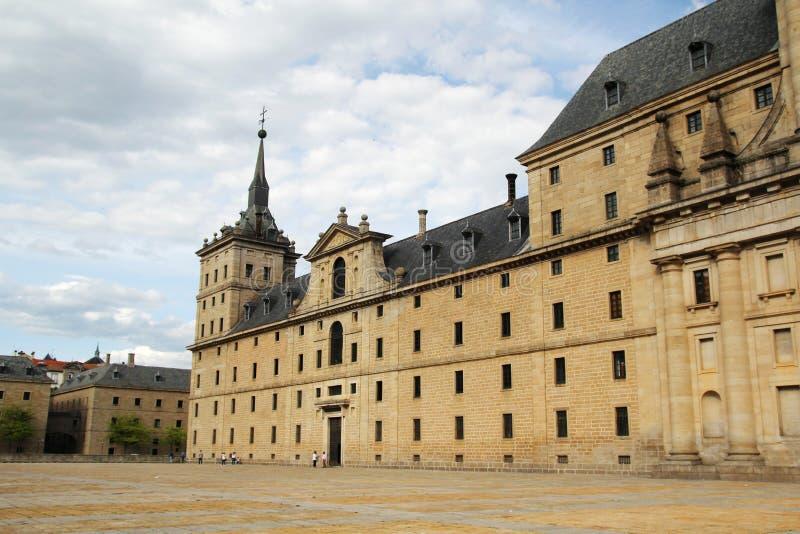 De Koninklijke Plaats van San Lorenzo de El Escorial, Spanje stock foto's
