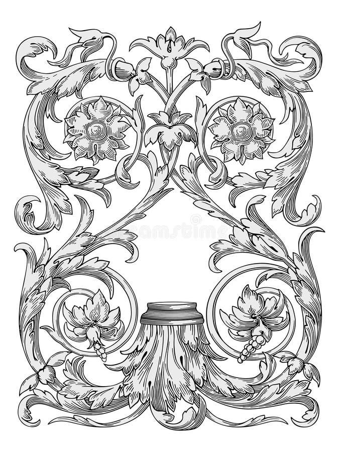De koninklijke vector van ontwerpelementen royalty-vrije illustratie
