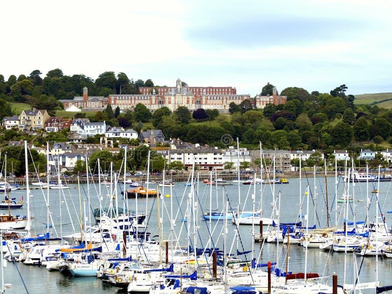 De Koninklijke zeeuniversiteit van Dartmouthbritannia, Devon. stock afbeeldingen