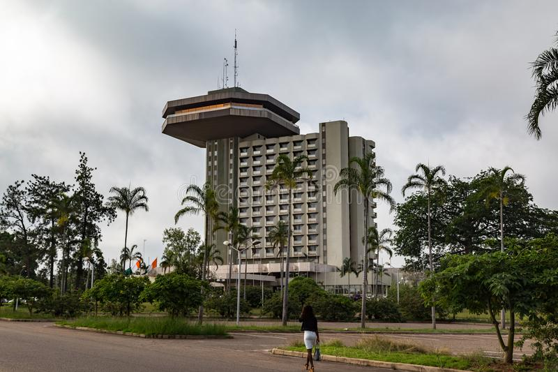 De Kooi D ` Ivoire van Yamoussoukro Ivoorkust van het voorzittershotel royalty-vrije stock afbeeldingen