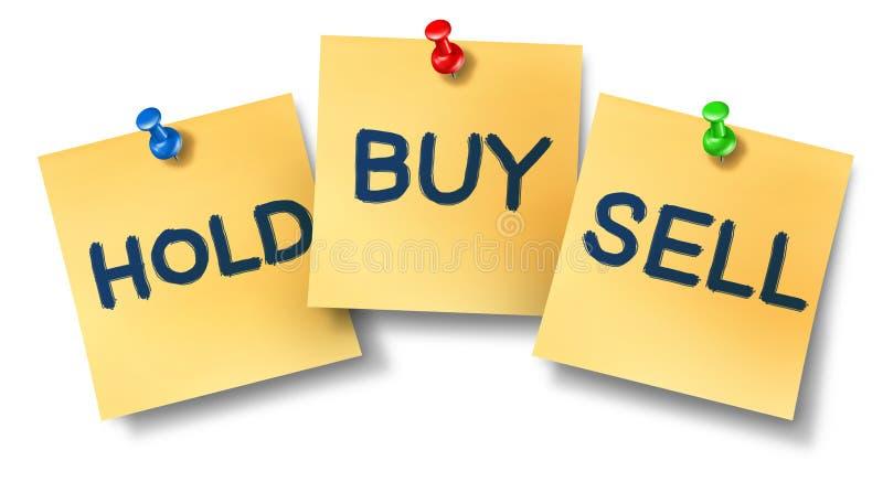 De koop-verkoop nota's van het greepbureau vector illustratie