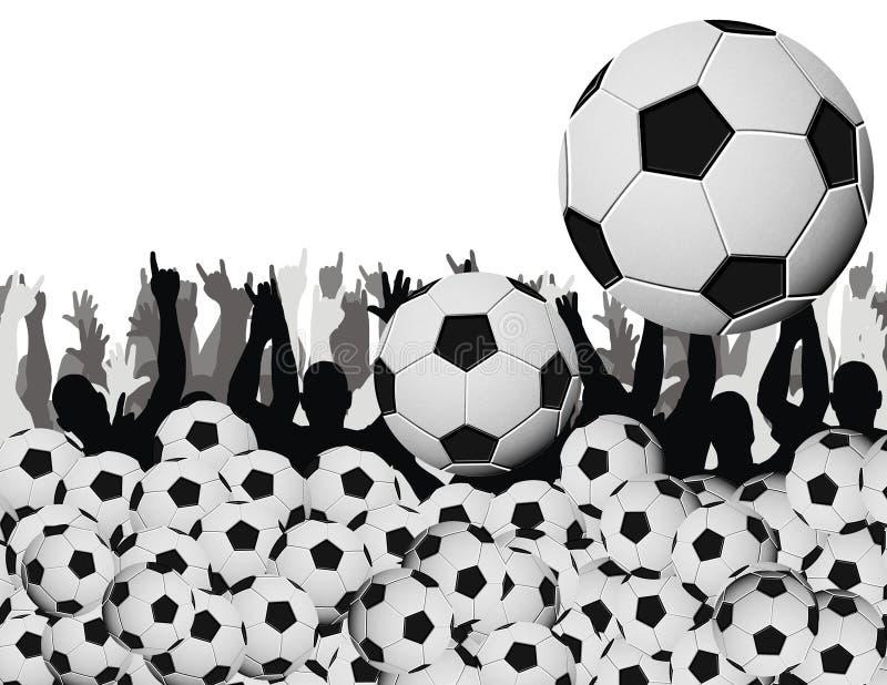 De koorts van het voetbal stock illustratie