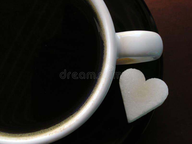 De kop & de suiker van de koffie stock foto's