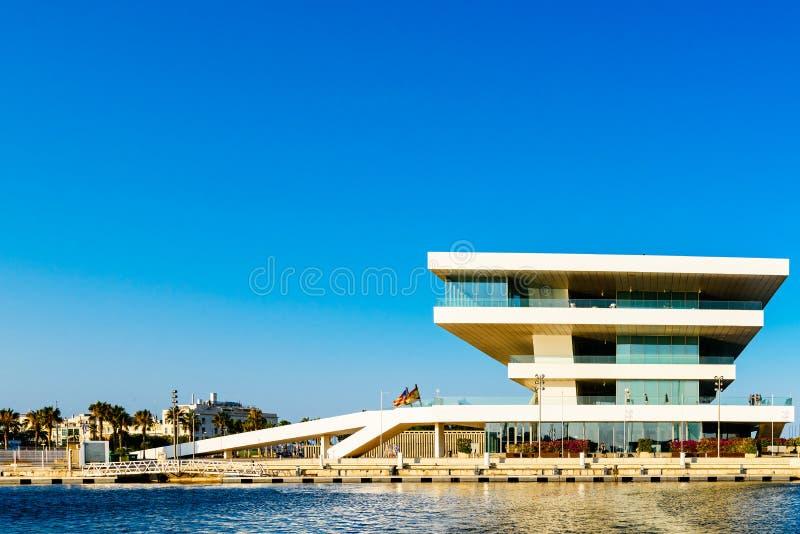 De Kop die van Amerika Foredeck-de Bouw of van Veles e Openingen in Valencia bouwen stock afbeelding