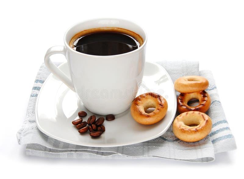 De kop en het broodje van de koffie royalty-vrije stock foto's