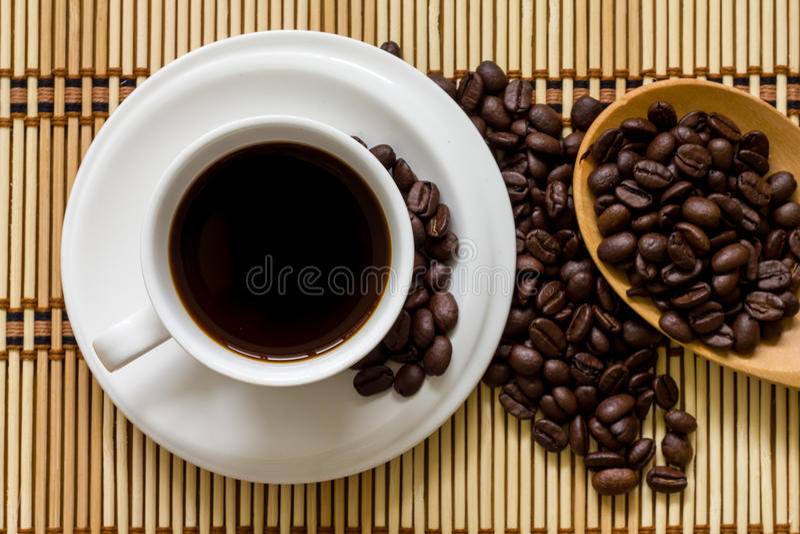 De kop hoogste mening van de koffie royalty-vrije stock foto
