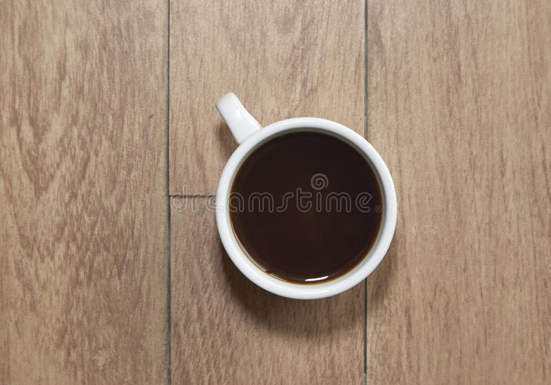 De kop hoogste mening van de koffie stock fotografie