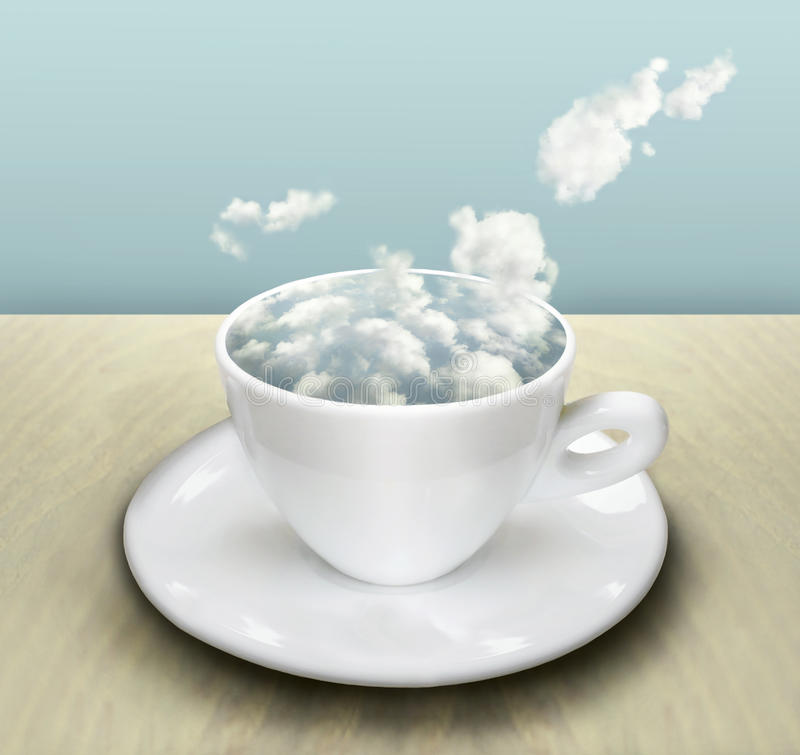 De Kop met Wolken royalty-vrije illustratie