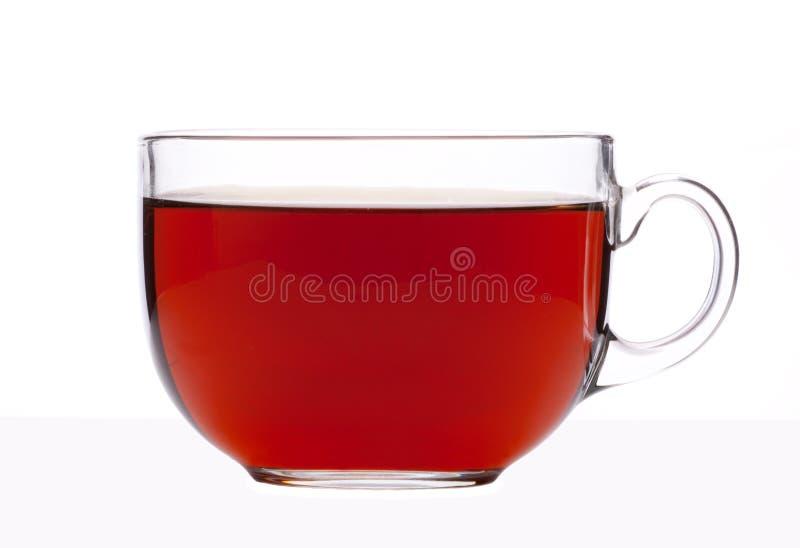 De kop thee van het glas stock afbeelding