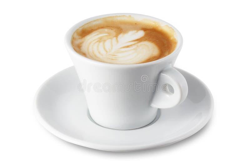 De kop van cappuccino's royalty-vrije stock afbeelding