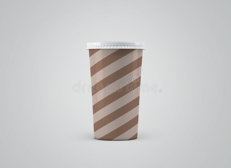 De Kop van Coffe Witboekkop zonder etiket op achtergrond Haal drank weg vector illustratie