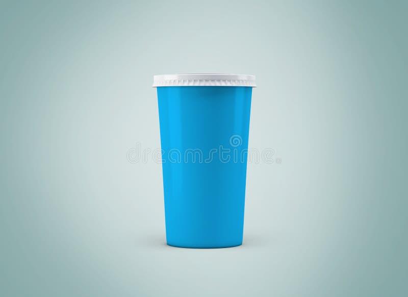 De Kop van Coffe Witboekkop zonder etiket op achtergrond Haal drank weg stock illustratie