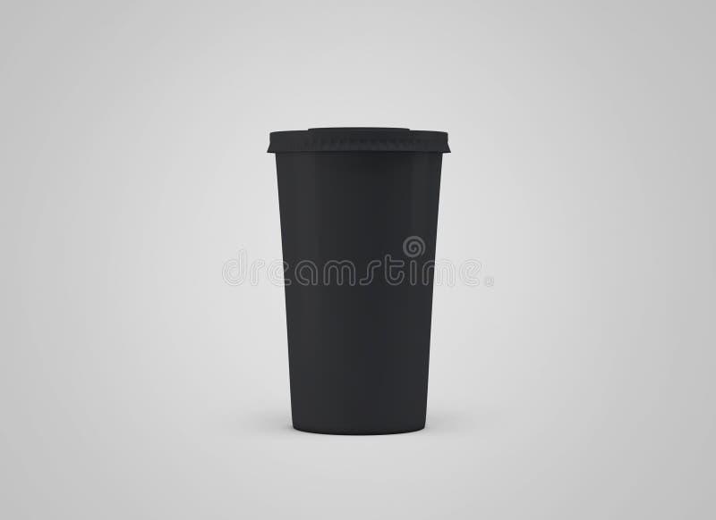 De Kop van Coffe Witboekkop zonder etiket op achtergrond Haal drank weg royalty-vrije illustratie