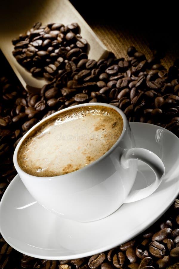 De kop van de koffie