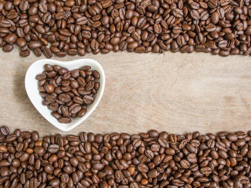 De kop van de koffie met hart royalty-vrije stock fotografie