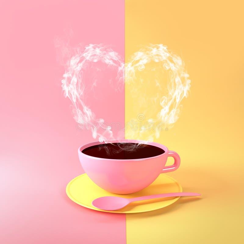 De kop van de koffie met hart vector illustratie