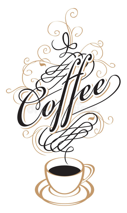 De Kop van de koffie met Stoom stock illustratie