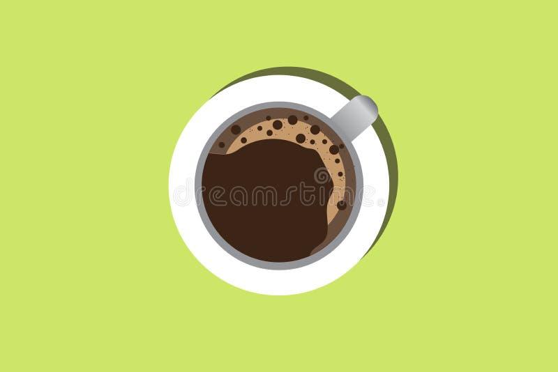 De kop van de koffie op groene achtergrond royalty-vrije stock foto