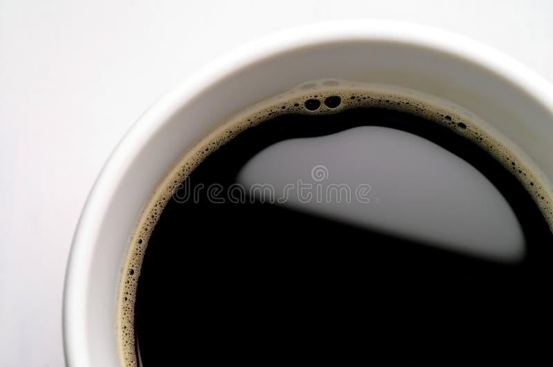 De kop van de koffie op witte achtergrond stock fotografie