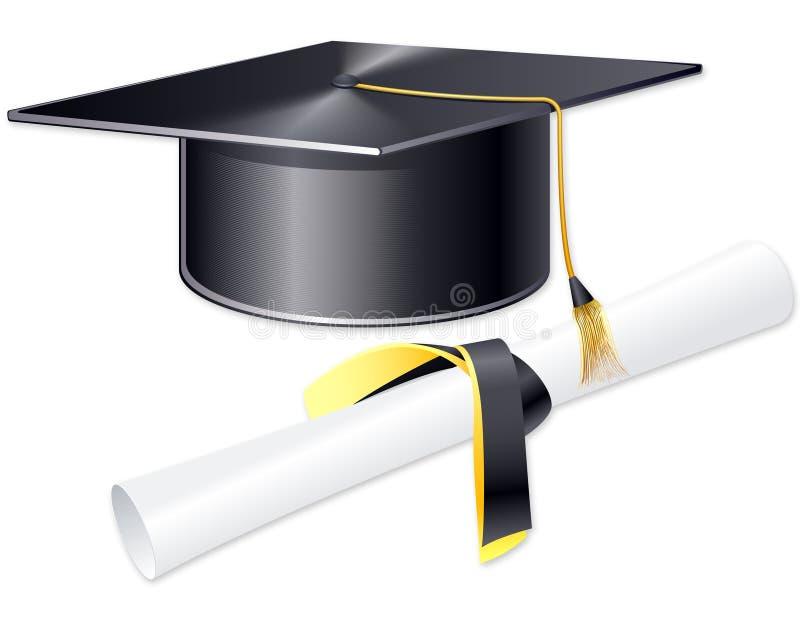 De kop van de student stock illustratie