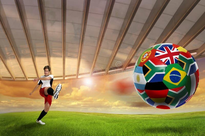 Download De kop van de wereld 2010 stock foto. Afbeelding bestaande uit vlaggen - 14136522