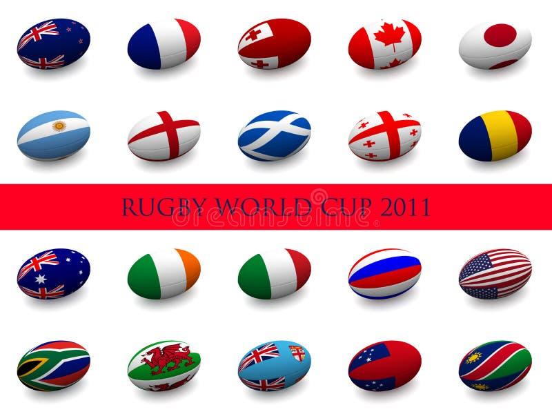 De Kop van de Wereld van het rugby - Deelnemende Naties