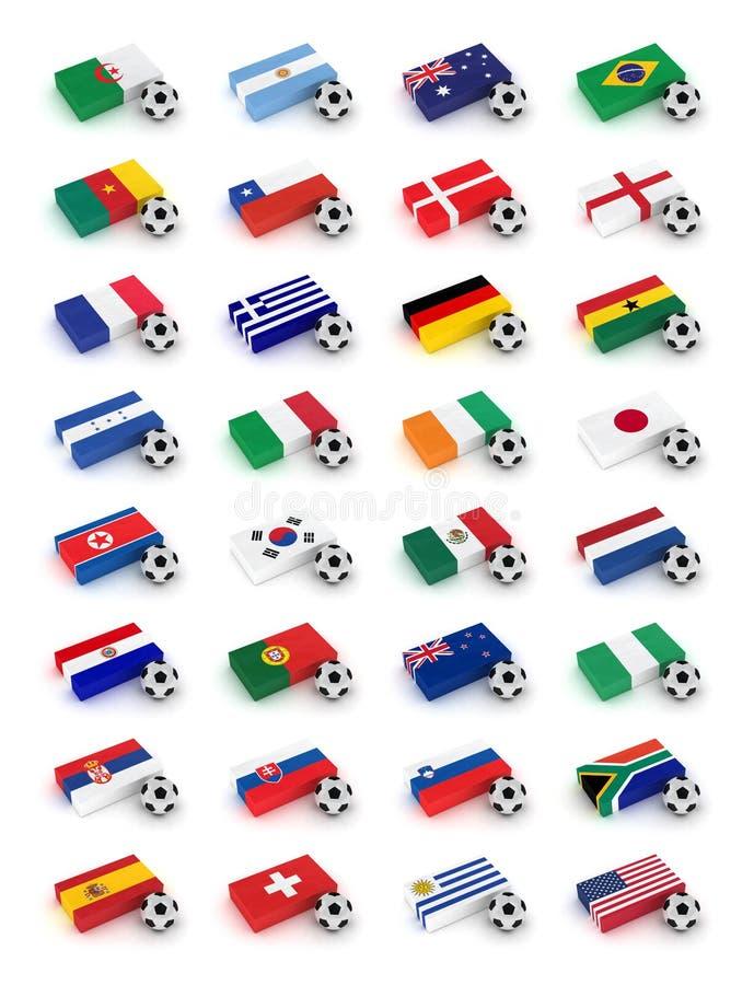 De Kop van de Wereld van het voetbal 2010 stock illustratie