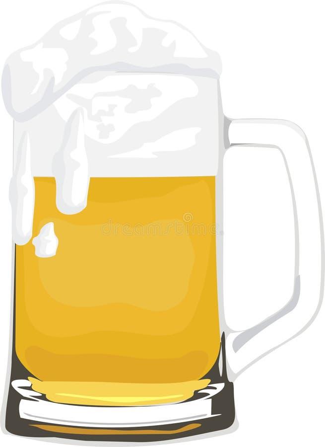 De kop van het bier royalty-vrije illustratie