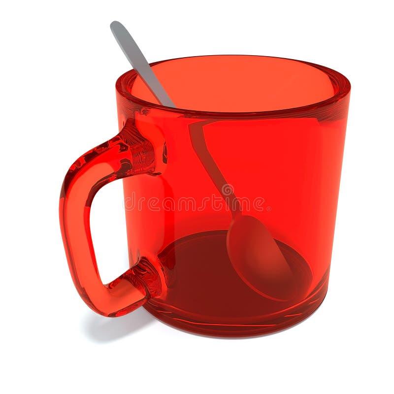 De kop van het glas met lepel stock illustratie