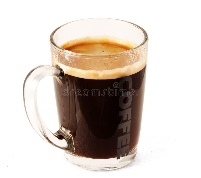 De kop van het glas van koffie royalty-vrije stock afbeeldingen