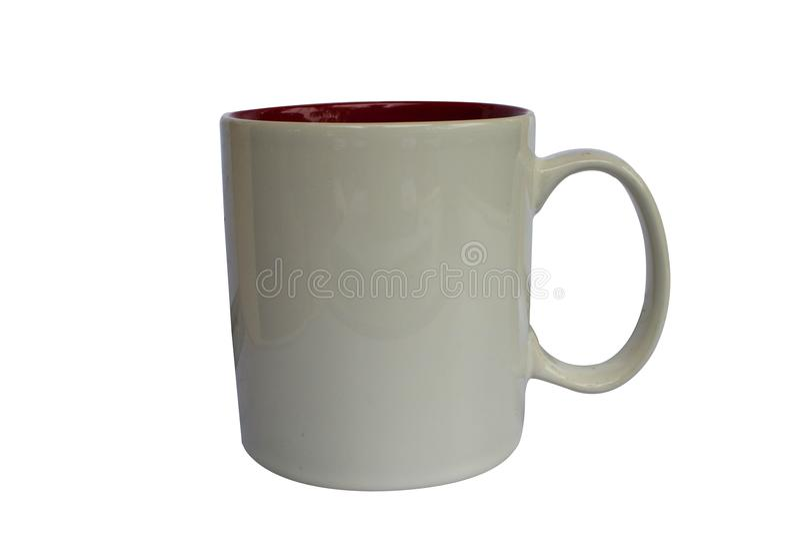 De kop van de koffie die op wit wordt geïsoleerdk stock foto