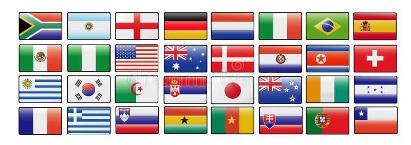 De kop vectorvlaggen van de wereld royalty-vrije illustratie