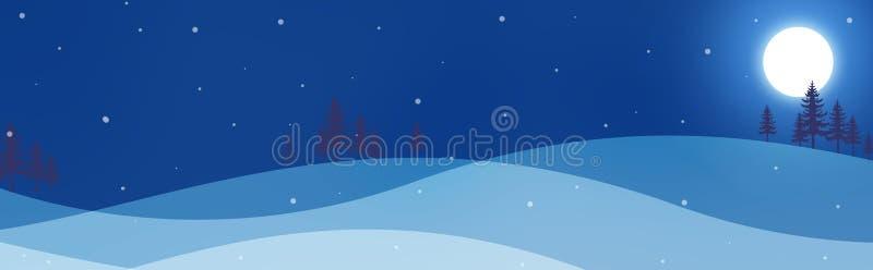 De Kopbal/de Banner van de winter royalty-vrije illustratie