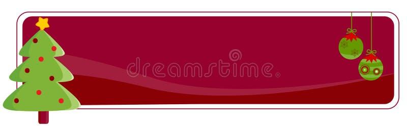 De Kopbal/de Banner van Kerstmis stock illustratie