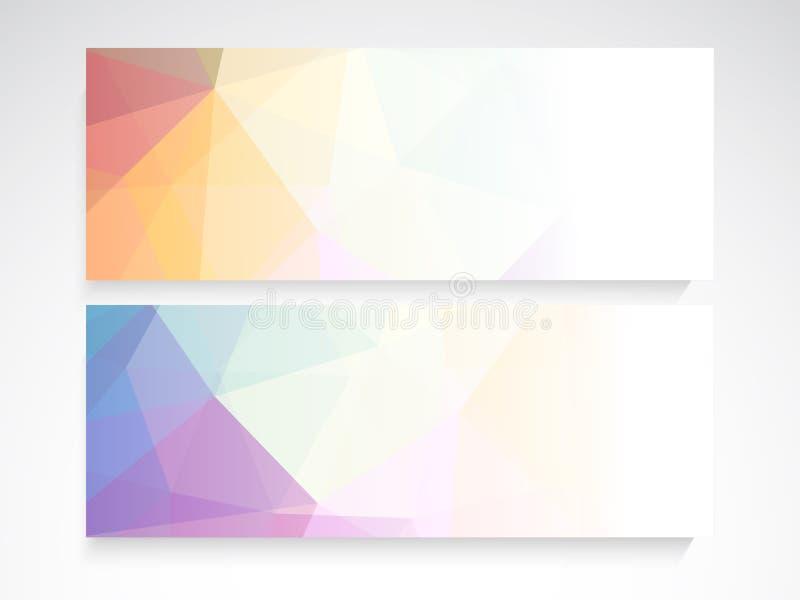 De kopbal of de bannerreeks van de website stock illustratie