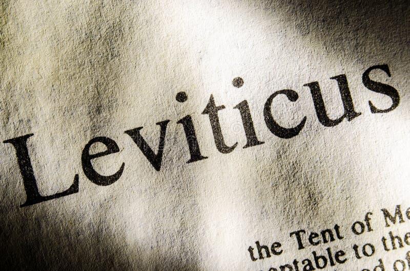 De kopbal van de Leviticustekst stock afbeelding