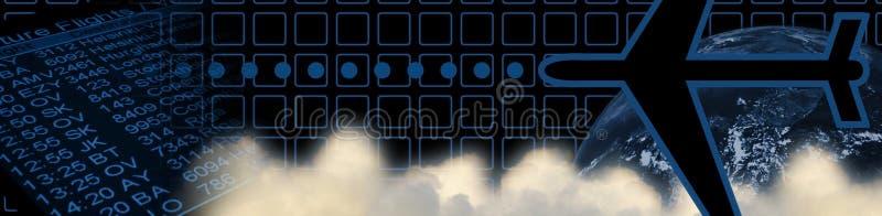 De kopbal van de reis: blauw stock illustratie
