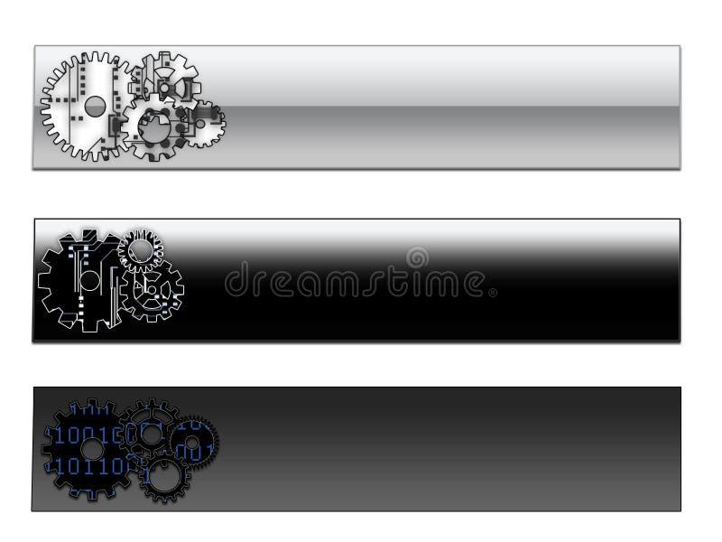 De kopballen van de pagina/Webbanners royalty-vrije illustratie
