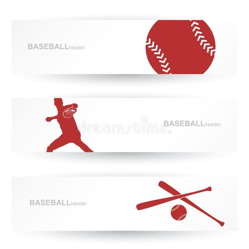 De kopballen van het honkbal stock illustratie