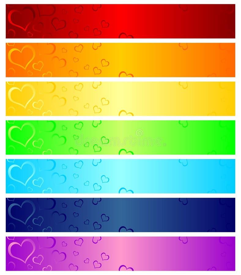 De kopballen van valentijnskaarten vector illustratie