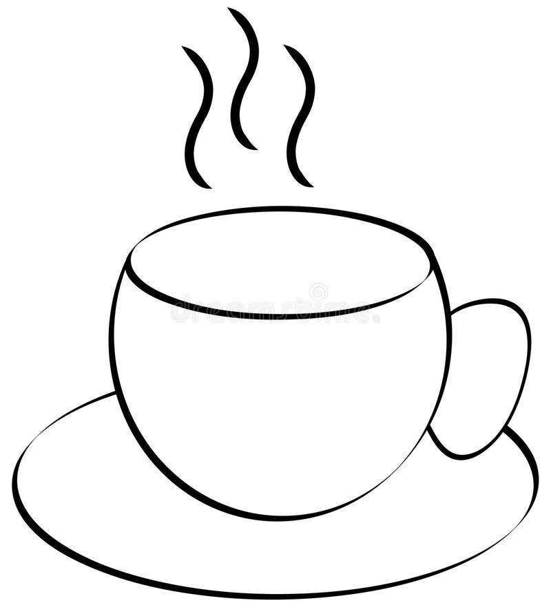 De kopoverzicht van de koffie of van de thee stock illustratie
