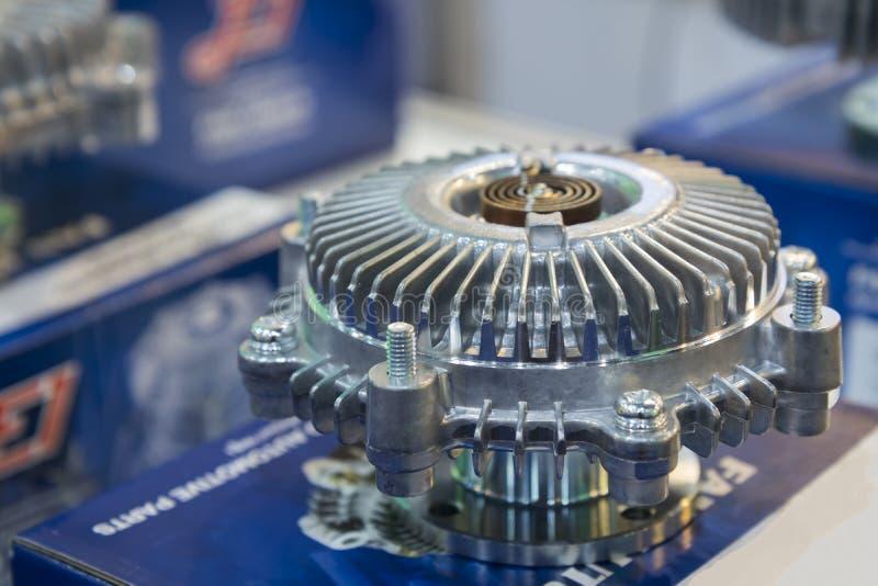de koppeling van de aluminiumventilator royalty-vrije stock afbeelding